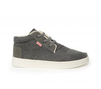 Boots grise en velours