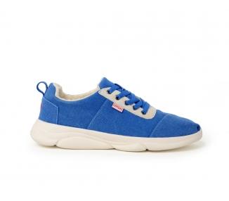 sneaker nubuck bleue
