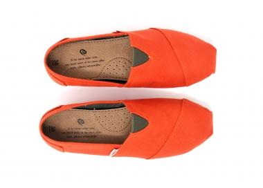 espadrille orange coton