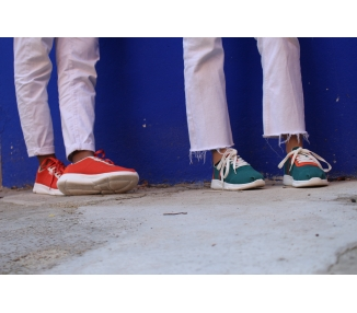 Two-tone sneakers