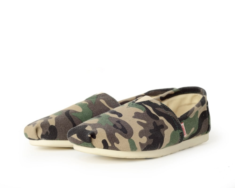 Espadrille camouflage