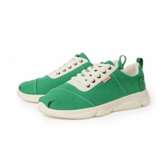 Green sneakers